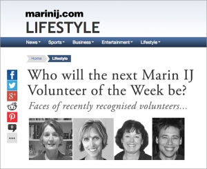 Each week the Marin IJ features a profile of local heroes embodying that spirit of volunteerism we should all strive for.